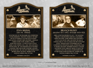 Cards HOF plaques smaller