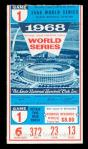 1968 WS G1 ticket